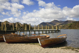 Jetty and Boats at Derwent Water January Photographic Print