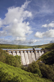 Craig Goch Dam Showing Excess Water Flowing Through Photographic Print