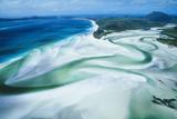 Australia Whitsunday Island Hill Inlet, Whitehaven Beach Fotografie-Druck