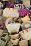 Morocco Pile of Woven Bags Photographic Print