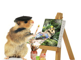 Hamster Painting Photographic Print