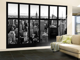 Wall Mural - Window View - Manhattan Skyline with the Empire State Building - New York City Wall Mural – Large by Philippe Hugonnard