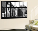 Wall Mural - Window View - The New Yorker Hotel - Manhattan - New York - B&W Photography Wall Mural by Philippe Hugonnard
