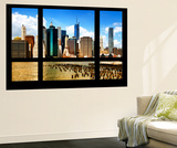 Wall Mural - Window View - Skyline Manhattan with the One World Trade Center - New York Wall Mural by Philippe Hugonnard