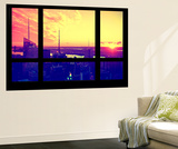Wall Mural - Window View - Manhattan at Sunset - Times Square Buildings - New York - USA Wall Mural by Philippe Hugonnard