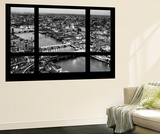Wall Mural - Window View - London with St. Paul's Cathedral at Nightfall - River Thames Wall Mural by Philippe Hugonnard