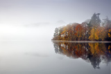 Derwent Water Autumn Colours Reflected in Water Photographic Print