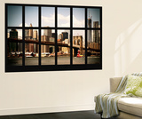 Wall Mural - Window View - Manhattan View with Brooklyn Bridge and 1WTC - New York Wall Mural by Philippe Hugonnard