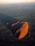 Uluru (Ayers Rock) at Sunrise, Aerial Photographic Print