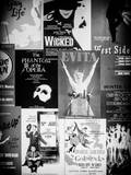 NYC Street Art - Patchwork of Old Posters of Broadway Musicals - Times Square - Manhattan Photographic Print by Philippe Hugonnard