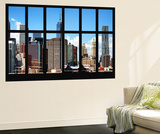 Wall Mural - Window View - Manhattan Skyscrapers with the One World Trade Center - New York Wall Mural by Philippe Hugonnard