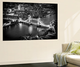 Wall Mural - View of City of London with the Tower Bridge at Night - London - UK Reproduction murale par Philippe Hugonnard