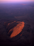 Uluru (Ayers Rock) at Sunrise, Aerial Image Photographic Print