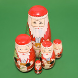 Santa Clause Russian Dolls Photographic Print