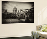Wall Mural - Millennium Bridge and St. Paul's Cathedral - City of London - UK - England Wall Mural by Philippe Hugonnard