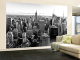 Wall Mural - Manhattan Skyline with the Empire State Building - New York Wall Mural – Large by Philippe Hugonnard