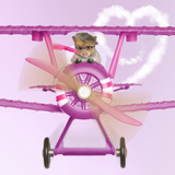 Hamster Flying Aeroplane Photographic Print