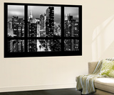 Wall Mural - Window View - Times Square and 42nd Street by Night - Manhattan - New York Wall Mural by Philippe Hugonnard