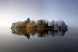 Derwent Island Autumn Reflections in Derwent Photographic Print