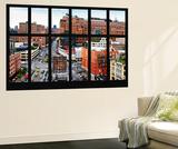 Philippe Hugonnard - Wall Mural - Window View - Urban View of West Village - Chelsea - Manhattan - New York - Duvar Resmi