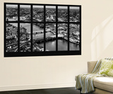 Wall Mural - Window View - London with St. Paul's Cathedral at Nightfall - River Thames Reproduction murale par Philippe Hugonnard