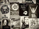 NYC Street Art - Patchwork of Old Posters of Broadway Musicals - Times Square - Manhattan Lámina fotográfica por Philippe Hugonnard