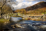Slaters Bridge in Little Langdale November Photographic Print