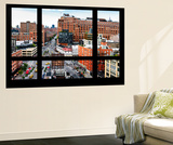 Wall Mural - Window View - Urban View of West Village - Chelsea - Manhattan - New York Wall Mural by Philippe Hugonnard