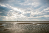 A Couple Walking Together on a Winter Day on a Beach Photographic Print by Clive Nolan