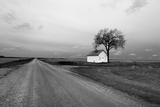 White Barn in Remote Rural Location Photographic Print by Rip Smith