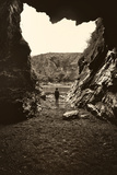 Figure Standing in Cave Photographic Print by Tim Kahane