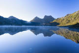 Mountain Scenery Dove Lake in Front of Massive Photographic Print