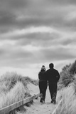 A Couple Walking Together on a Winter Day Photographic Print by Clive Nolan