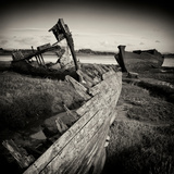 Rotting Boats on Mud Flats Photographic Print by Craig Roberts