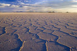 Salar De Uyuni Polygonal Salt Pattern on Dried Photographic Print