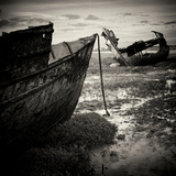 Old Boats on Sand Photographic Print by Craig Roberts