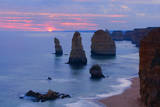 Twelve Apostles Sunset Setting Sun over the Sandstone Photographic Print