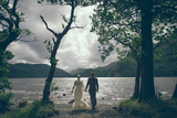 Couple Celebrating their Marriage Photographic Print by Clive Nolan