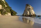 Cathedral Cove Cliffs and Artfully Sculpted Rock Photographic Print