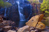 Mac Kenzie Falls Water Cascades Down Red Cliffs Photographic Print