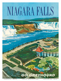 Niagara Falls, Ontario, Canada, New York, USA Plakater af S. Fleming