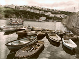 Cornish Harbour with Small Fishing Boats Photographic Print by Tim Kahane