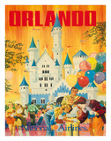Orlando, Florida, USA, Walt Disney World Resort, National Airlines Gicleetryck