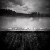 Timber Decking by Lake Photographic Print by Steven Allsopp