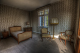 Abandoned Hotel Bedroom Photographic Print by Nathan Wright