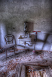 Sink and Chair in Abandoned House Photographic Print by Nathan Wright