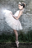 Young Female Ballet Dancer Photographic Print by Tanneke Peetoom