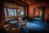Abandoned Hotel Lounge Area Photographic Print by Nathan Wright