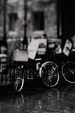 Black and White Bicycle Photograph Photographic Print by Laura Evans