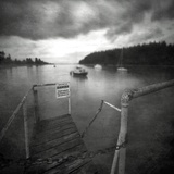 Small Jetty on Lake Photographic Print by Steven Allsopp